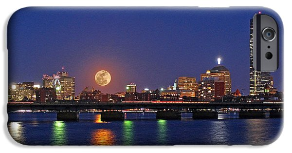 Super Moon Over Boston IPhone Case by Juergen Roth