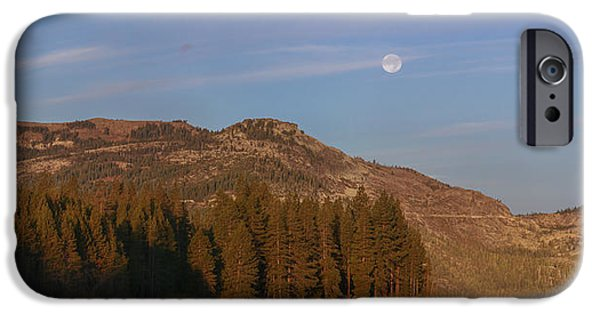 Super Moon Setting- Donner Lake IPhone Case by Jeremy Jensen