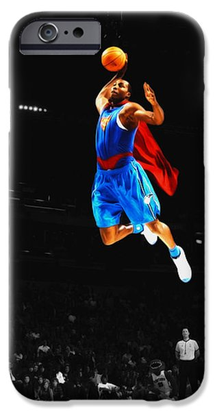 Superman Dwight Howard IPhone Case by Brian Reaves
