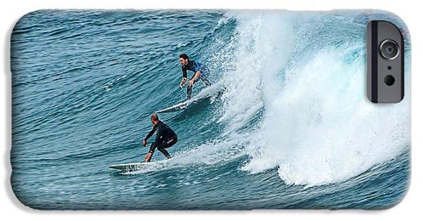 Surfing Fun By Kaye Menner IPhone Case by Kaye Menner
