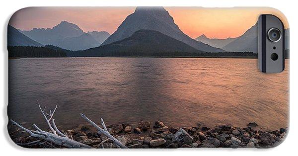 Sunset // Swift Current Lake, Glacier National Park  IPhone Case by Nicholas Parker