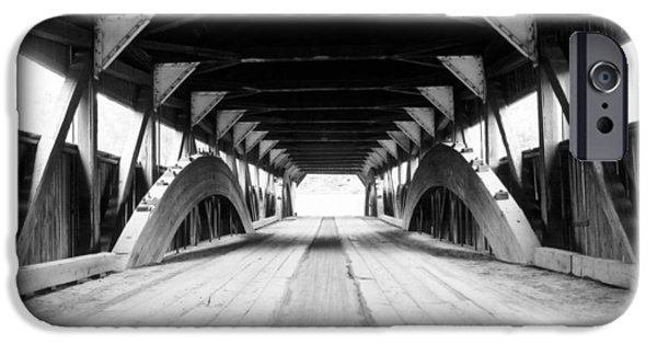 Taftsville Covered Bridge IPhone Case by Greg Fortier