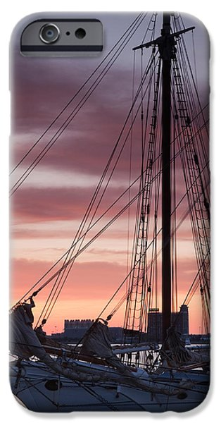 Tall Ship Moored At A Harbor, Sail IPhone Case by Panoramic Images