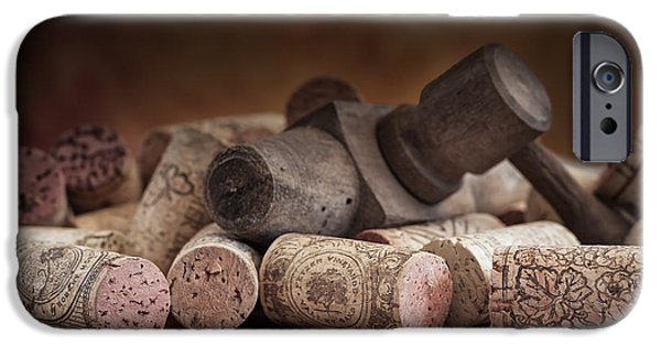 Tapped Out - Wine Tap With Corks IPhone Case by Tom Mc Nemar
