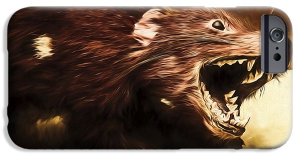 Tasmanian Devil Digital Painting IPhone Case by Jorgo Photography - Wall Art Gallery