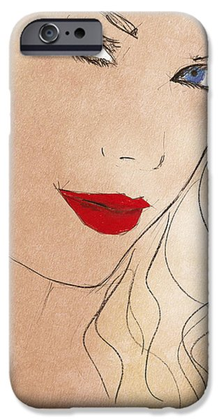 Taylor Red Lips IPhone 6s Case by Pablo Franchi