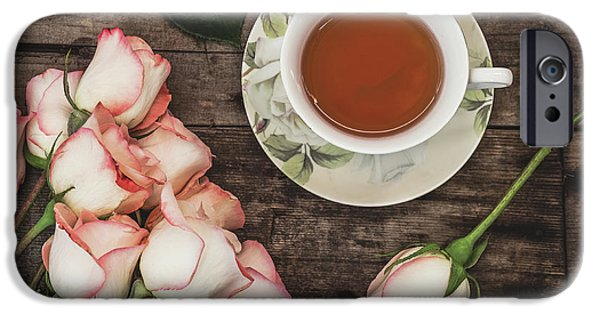 Tea And Roses IPhone Case by Kim Hojnacki