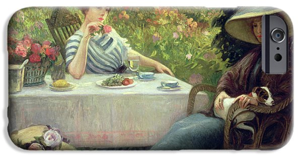 Tea Time IPhone Case by Jacques Jourdan
