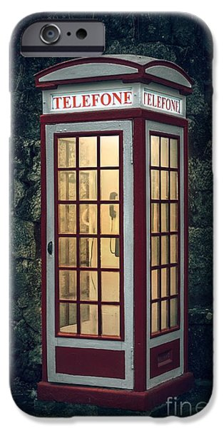 Telephone Booth IPhone Case by Carlos Caetano