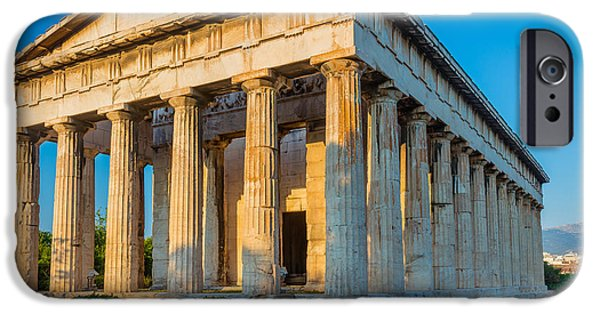 Temple Of Hephaestus IPhone Case by Inge Johnsson