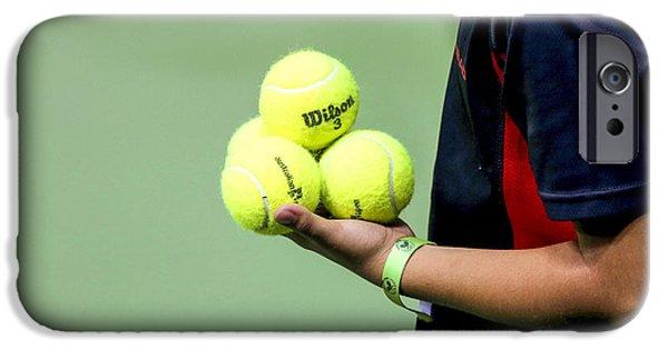 Tennis Ballboy IPhone Case by Lilach Weiss
