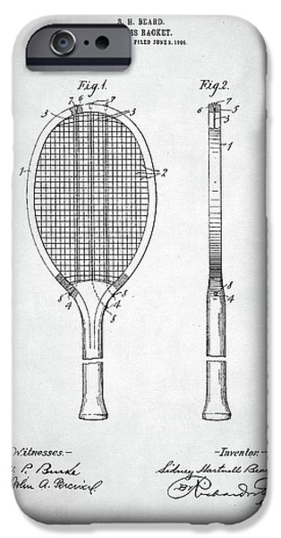 Tennis Racket Patent 1907 IPhone 6s Case by Taylan Apukovska