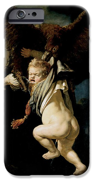 The Abduction Of Ganymede IPhone Case by Rembrandt