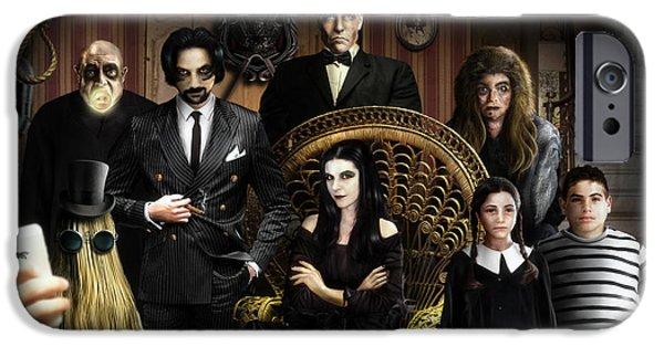 The Addams Family IPhone Case by Alessandro Della Pietra