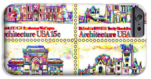 The American Architecture Stamps IPhone Case by Lanjee Chee