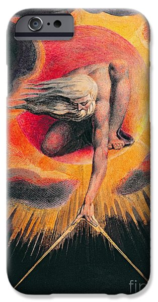 The Ancient Of Days IPhone Case by William Blake