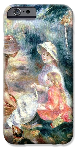 The Apple-seller IPhone Case by Pierre Auguste Renoir