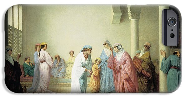 The Arrival Into The Harem At Constantinople IPhone Case by Henriette Browne