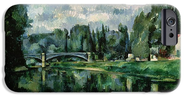The Banks Of The Marne At Creteil IPhone Case by Paul Cezanne