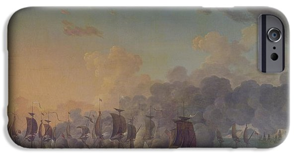 The Battle Of Louisbourg On The 21st July 1781 IPhone Case by Auguste Rossel De Cercy