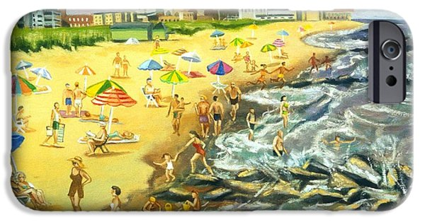 The Beach At Ocean Grove IPhone Case by Madeline  Lovallo