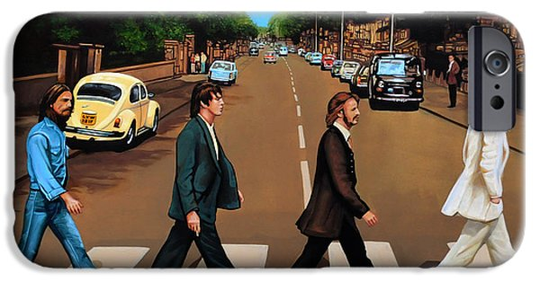 The Beatles Abbey Road IPhone Case by Paul Meijering