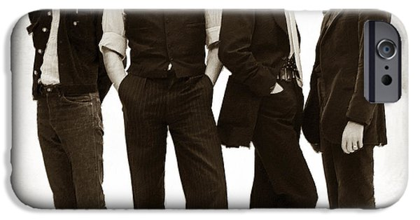 The Beatles Painting Late 1960s Early 1970s Sepia IPhone Case by Tony Rubino