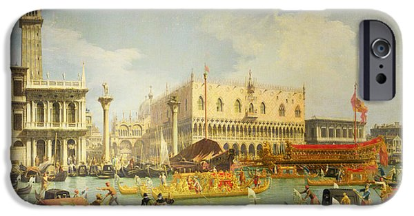 The Betrothal Of The Venetian Doge To The Adriatic Sea IPhone Case by Canaletto
