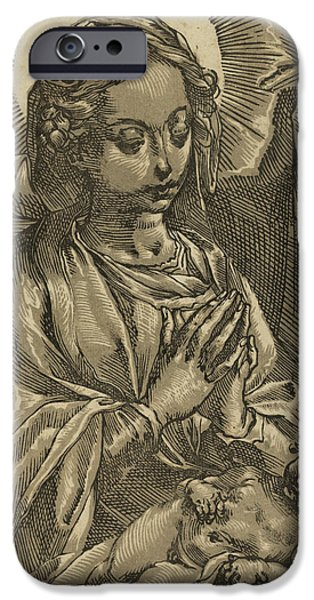 The Blessed Virgin IPhone Case by Andrea Andreani