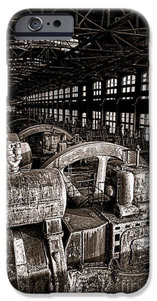 The Blower House At Bethlehem Steel  IPhone Case by Olivier Le Queinec