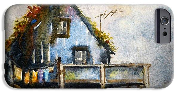The Blue House IPhone Case by Kristina Vardazaryan