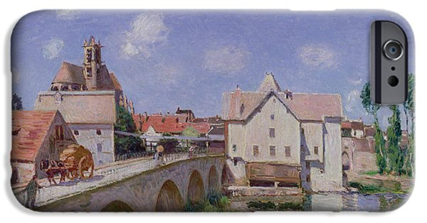 The Bridge At Moret IPhone Case by Alfred Sisley
