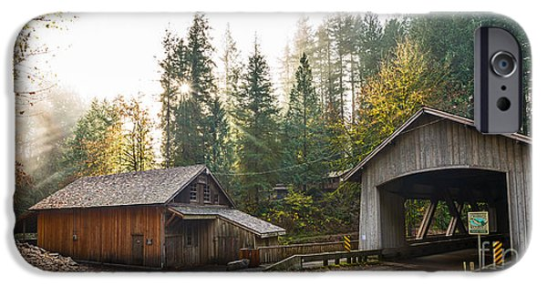 The Cedar Creek Grist Mill And Bridge. IPhone Case by Jamie Pham