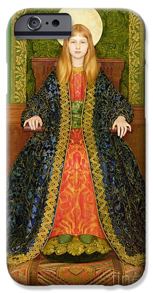 The Child Enthroned IPhone Case by Thomas Cooper Gotch
