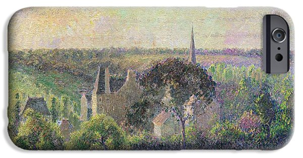 The Church And Farm Of Eragny IPhone Case by Camille Pissarro