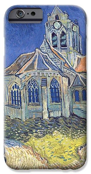The Church At Auvers Sur Oise IPhone Case by Vincent Van Gogh