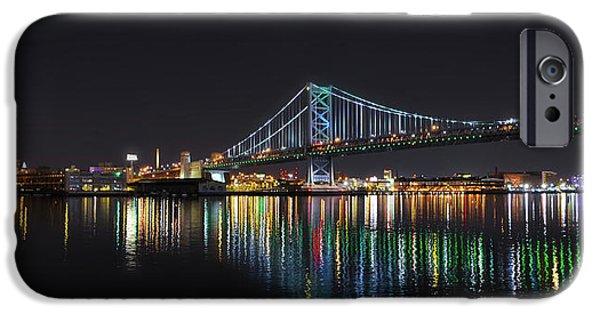 The Colorful Benjamin Franklin Bridge IPhone Case by Bill Cannon