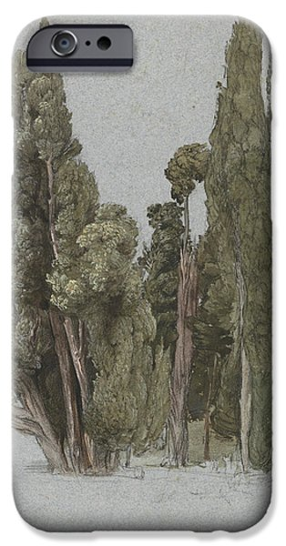 The Cypresses At The Villa D'este, Tivoli IPhone Case by Samuel Palmer