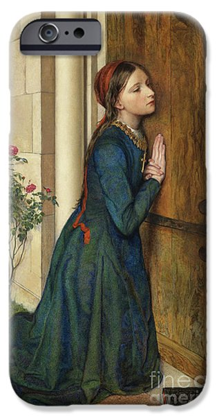 The Devout Childhood Of Saint Elizabeth Of Hungary, 1852 IPhone Case by Charles Alston Collins