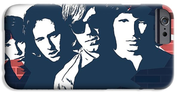 The Doors Graffiti Tribute IPhone Case by Dan Sproul