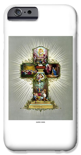 The Easter Cross IPhone Case by War Is Hell Store