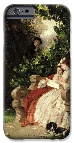 The Eavesdropper IPhone Case by Carl Heinrich Hoff