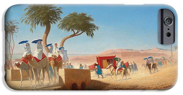 The Empress Eugenie Visiting The Pyramids IPhone 6s Case by Charles Theodore Frere