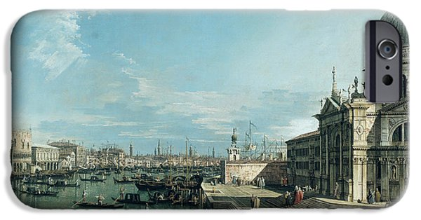 The Entrance To The Grand Canal And The Church Of Santa Maria Della Salute IPhone Case by Canaletto