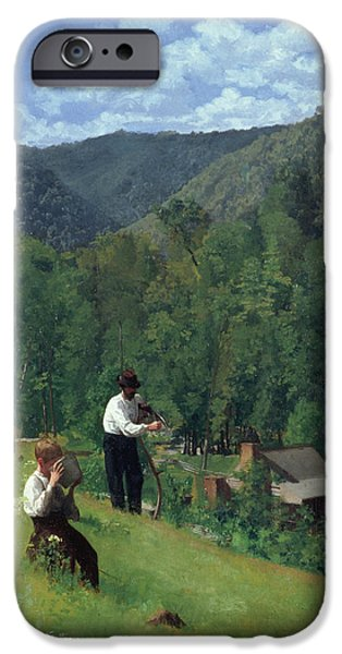 The Farmer And His Son At Harvesting IPhone 6s Case by Thomas Pollock Anschutz