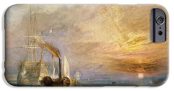The Fighting Temeraire Tugged To Her Last Berth To Be Broken Up IPhone Case by Joseph Mallord William Turner