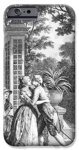 The First Kiss Of Love IPhone Case by Nicolas Andre Monsiau