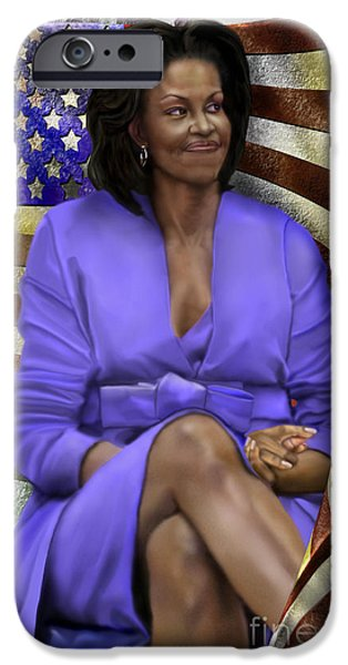 The First Lady-american Pride IPhone Case by Reggie Duffie