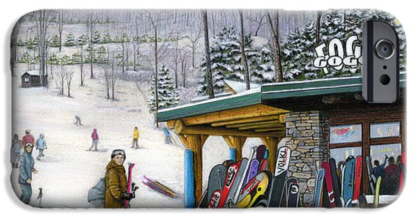 The Foggy Goggle At Seven Springs IPhone Case by Albert Puskaric