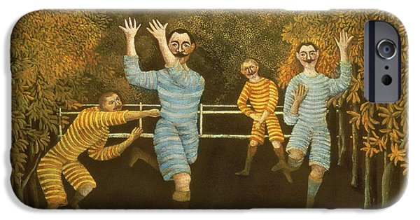 The Football Players IPhone Case by Henri Rousseau